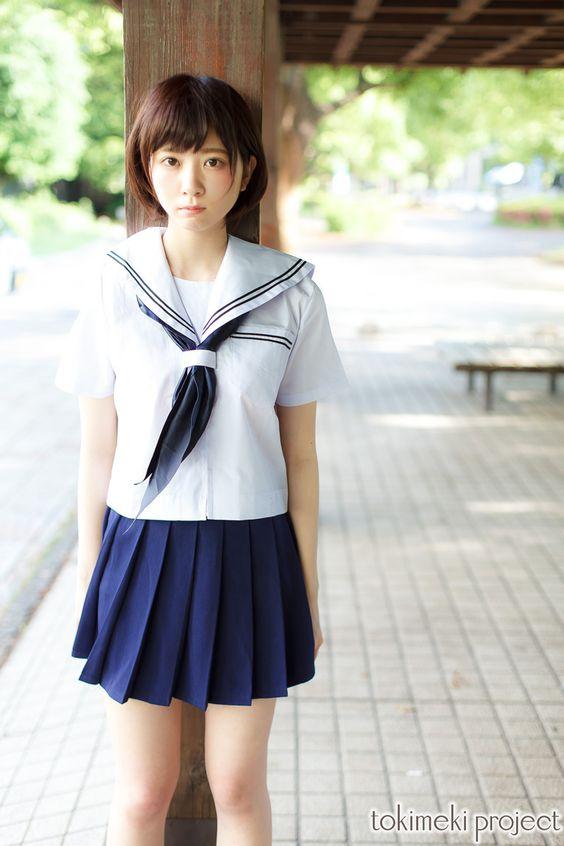 楠ろあ セーラー服 夏服 画像 (13)
