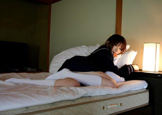 日暮りん Tバックが食い込みアナルやマンコが丸見えでエロい セーラー服のコスプレ画像