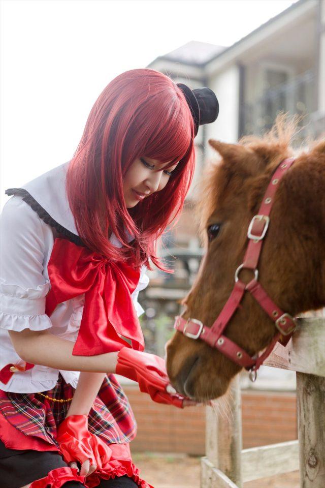 コスプレイヤー なーさん 真っ赤なパンツのパンチラがエロい 『ラブライブ!』 西木野真姫のコスプレ画像