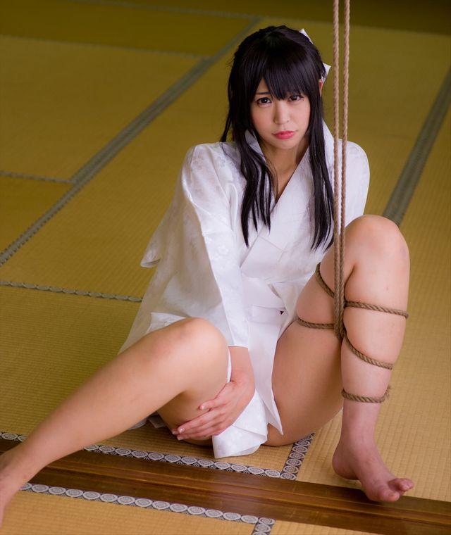 コスプレイヤーつぐ 『ナナとカオル』 千草奈々 和服 コスプレ 緊縛 画像