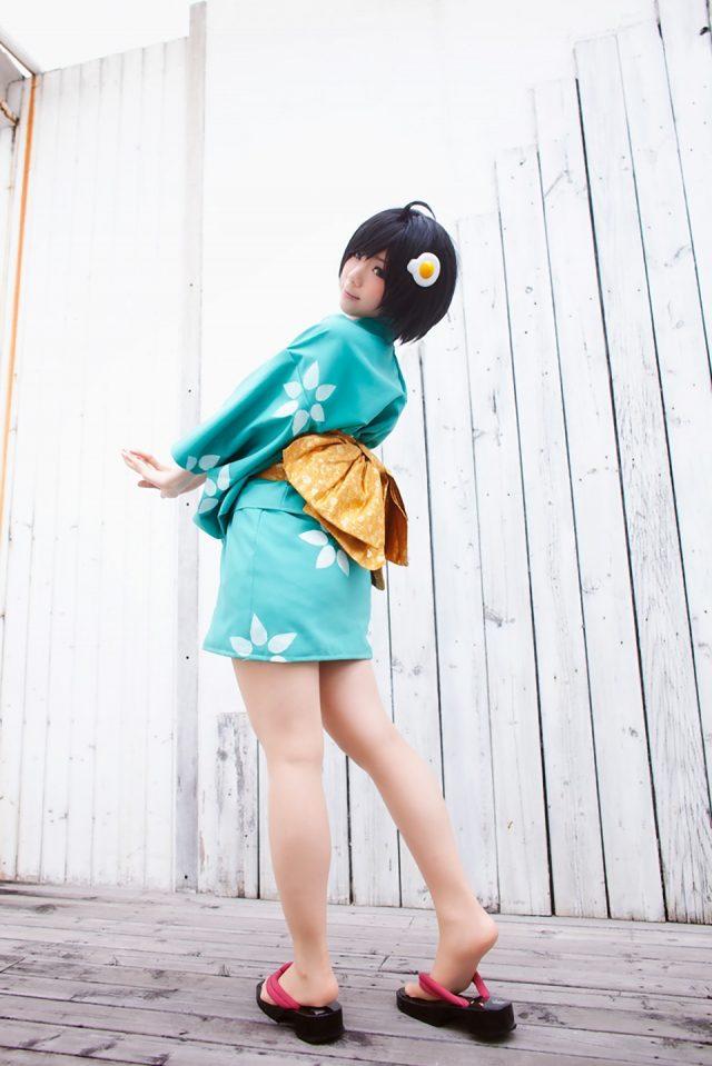 コスプレイヤー香坂ゆん 『化物語』 阿良々木月火の浴衣コスプレが可愛い画像