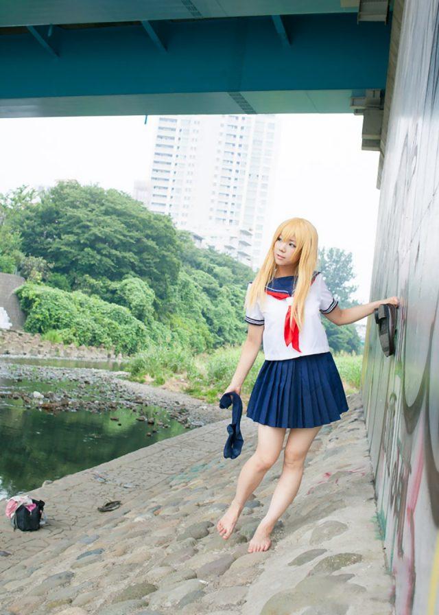 コスプレイヤー 香坂ゆん 『今日のあすかショー』 京野あすかのセーラー服がエロいコスプレ画像