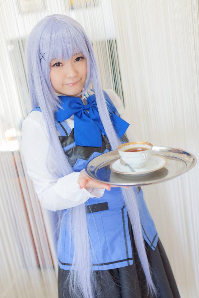 木村つな アナルを広げたポーズがエロい!チノ(ご注文はうさぎですか?)のコスプレ画像