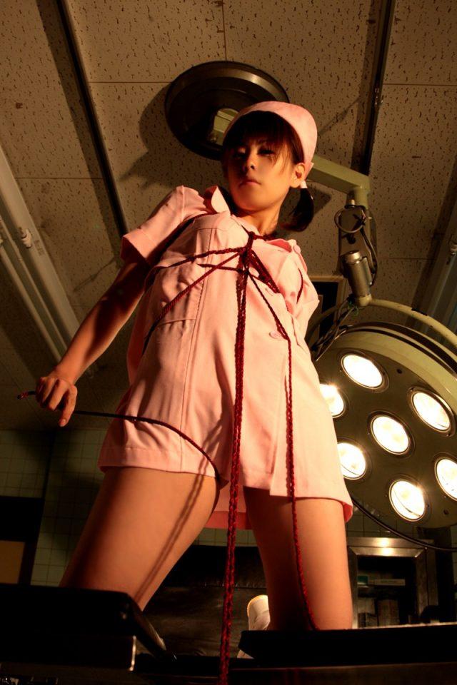 コスプレイヤー 橘みなみ 『夜勤病棟』 児玉ひかる ナースのコスプレで緊縛されちゃうエロ画像