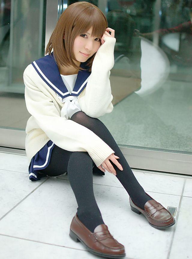 コスプレイヤー 璃波 ラブプラス 姉ヶ崎寧々 冬服セーラー服 コスプレ 画像