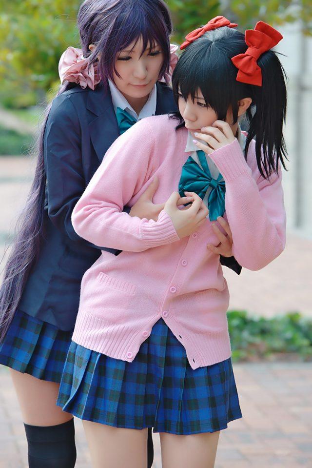 コスプレイヤー 香坂ゆん ミニスカにハイソックスがエロい 『ラブライブ!』 矢澤にこ コスプレ画像