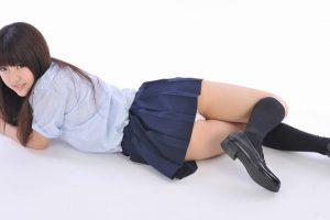 白石みずほ 女子高生の制服コスプレ 画像