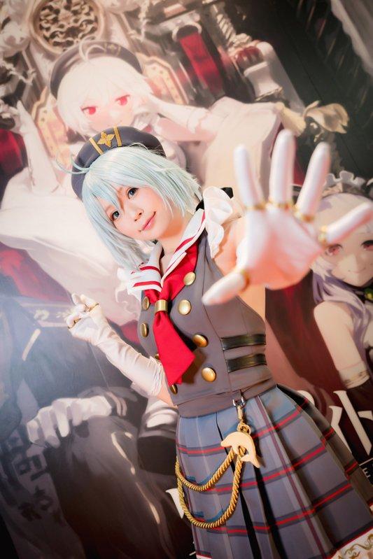 五木あきら 東京ゲームショウ2018 バーチャルYouTuber 電脳少女シロのコスプレ画像