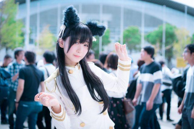 伊織もえ 東京ゲームショウ2018 『アズールレーン』愛宕のコスプレ画像