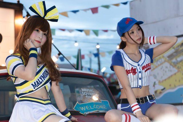 五木あきら&うらまる 音霊 OTODAMA SEA STUDIO 2018 ベースボールガールのコスプレ画像
