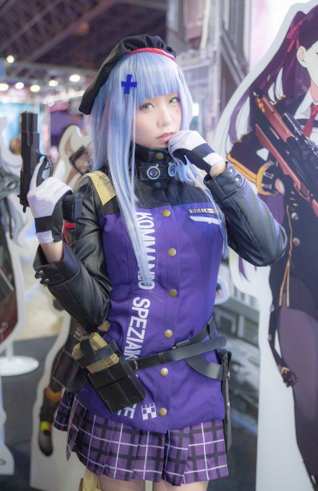 コスプレイヤーくろねこ 東京ゲームショウ2018 『ドールズフロントライン』 HK416のコスプレ画像