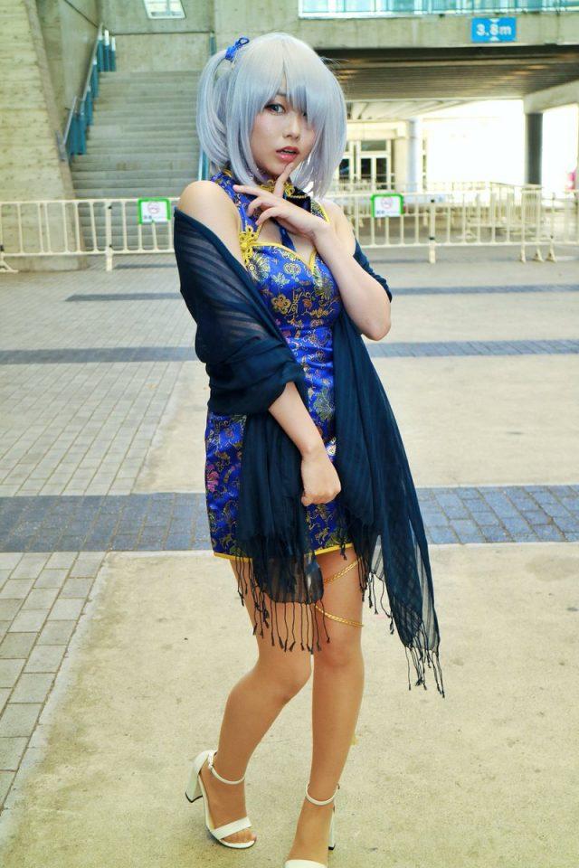 コスプレイヤーくろねこ C3AFA TOKYO2018 チャイナドレスのコスプレ画像