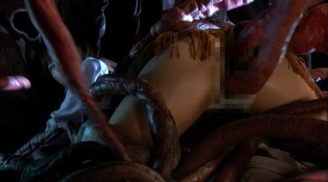 樹花凜 触手に犯されまくる姿がエロい 『スーパーヒロインVS触手クリーチャー 前編 宇宙特捜アミー』 コスプレ画像